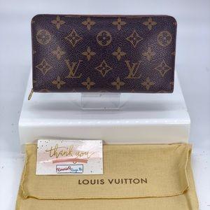 Louis Vuitton Monogram Porte Monnaie Zippy Wallet